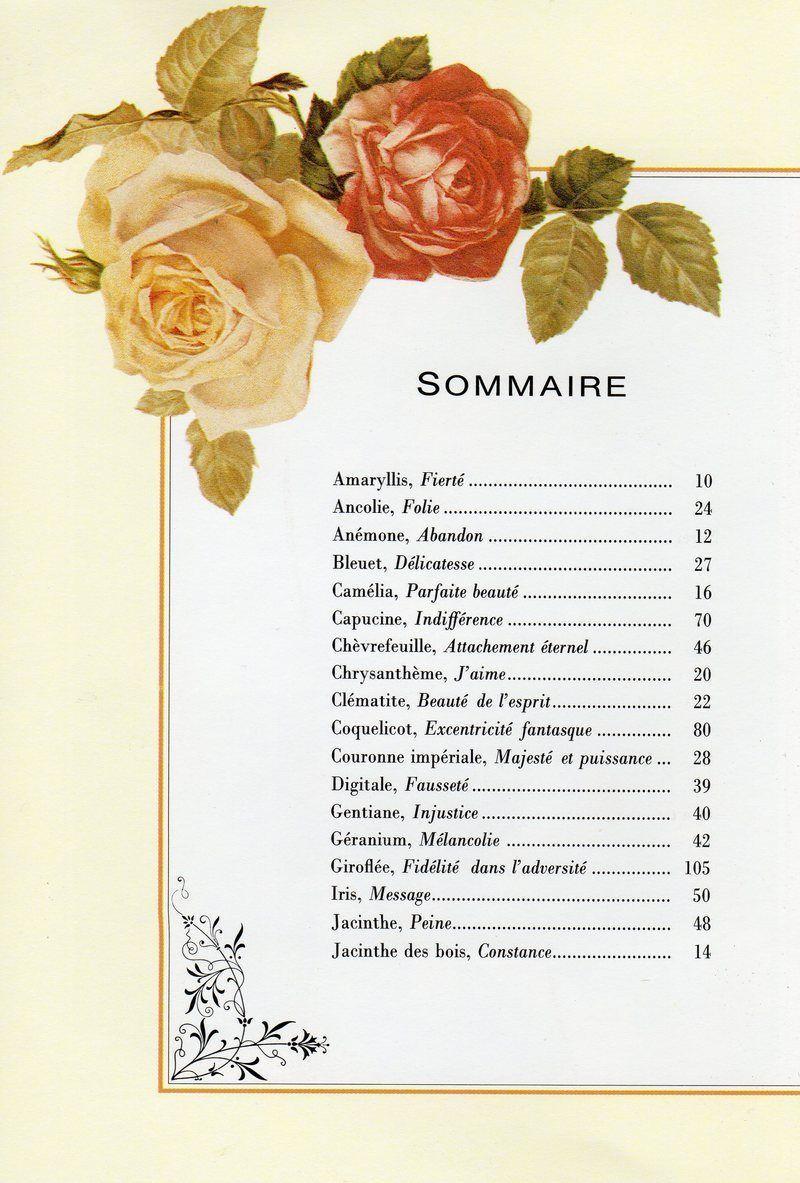 Le langage des fleurs du temps jadis page 6 - Langage des fleurs amitie ...